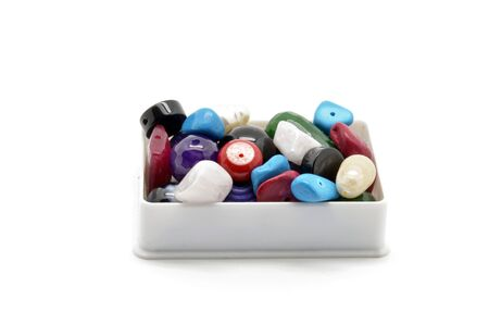 trinkets: beads and trinkets box Stock Photo
