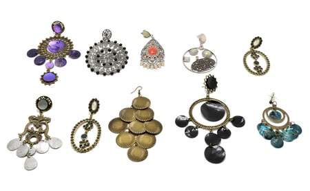 Collection of earrings women Stock Photo - 16030751