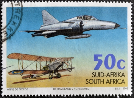 SOUTH AFRICA - CIRCA 1995  A stamp printed in RSA  celebrating 75 years of the South African Air Force, circa 1995