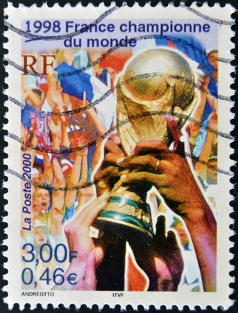 FRANCE - CIRCA 2000: A stamp printed in France dedicated in France 1998, circa 2000 Stock Photo - 16127755