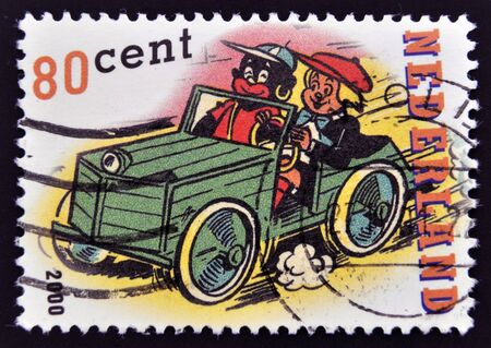 canceled: HOLLAND - CIRCA 2000: A stamp printed in Netherlands shows Sjors  circa 2000