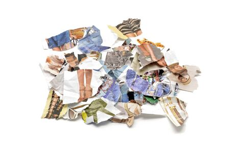 Scraps of womens fashion magazines photo