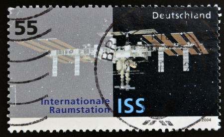 GERMANY - CIRCA 2004  stamp printed in Germany shows an image of the International Space Station, circa 2004   photo