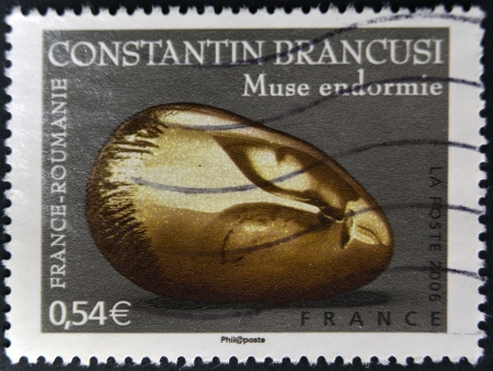 constantin: FRANCE - CIRCA 2006: A stamp printed in France shows Sculptures by Constantin Brancusi, circa 2006  Stock Photo