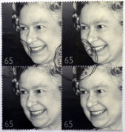 UNITED KINGDOM - CIRCA 2002: A stamp printed in Great Britain shows shows Queen Elizabeth II, golden jubilee, circa 2002.
