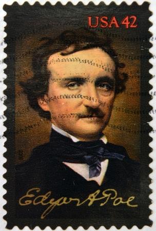 UNITED STATES OF AMERICA - CIRCA 2008: A stamp printed in USA shows Edgar Allan Poe, circa 2008