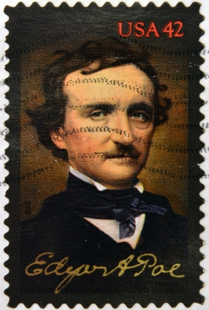 UNITED STATES OF AMERICA - CIRCA 2008: A stamp printed in USA shows Edgar Allan Poe, circa 2008