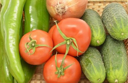 gazpacho: Vegetables, ingredients of gazpacho (detail)