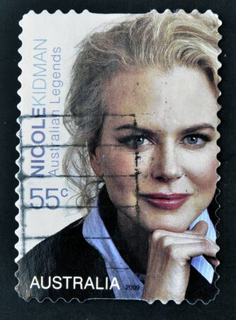 AUSTRALIA - CIRCA 2009: A stamp printed in Australia shows Nicole Kidman, circa 2009 Stock Photo - 16961344