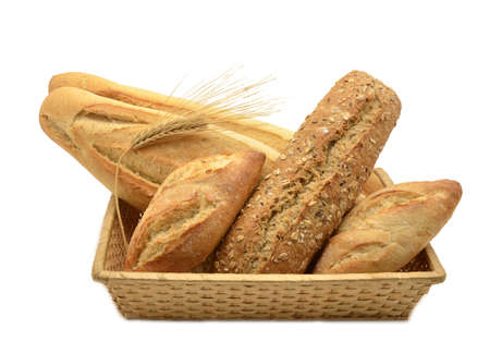 Composition of basket with different types of bread Stock Photo - 16959303