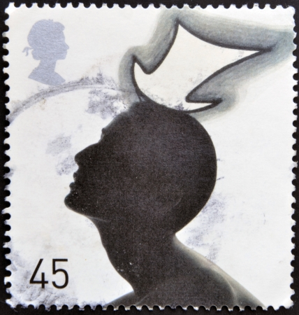 UNITED KINGDOM - CIRCA 2001: A stamp printed in Great Britain shows Top Hat by Stephen Jones, circa 2001 Stock Photo - 17139335