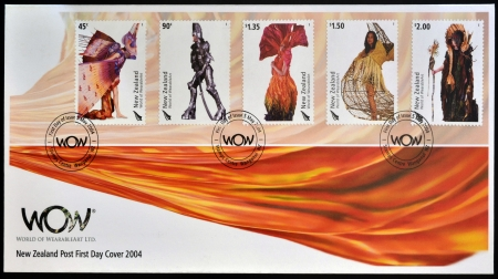 NEW ZEALAND - CIRCA 2004: Stamps printed in New Zealand dedicated to World of WearableArt, circa 2004  Stock Photo - 17297651