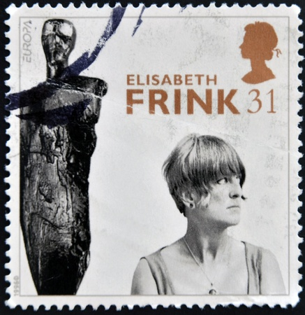 UNITED KINGDOM - CIRCA 1996: A stamp printed in Great Britain shows Dame Elisabeth Frink (sculptress), circa 1996 Stock Photo - 17297639