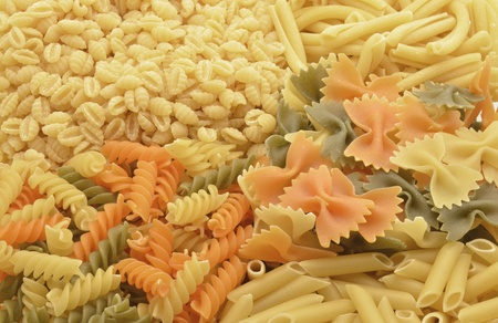 different kinds of pasta photo