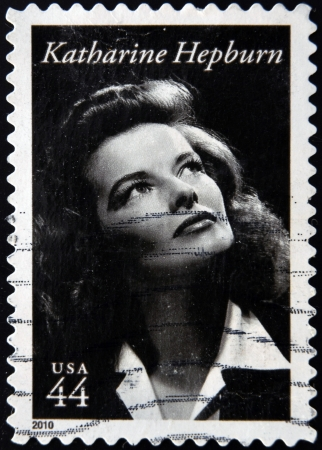 UNITED STATES OF AMERICA - CIRCA 2010: A stamp printed in USA shows Katharine Hepburn, circa 2010 Editorial