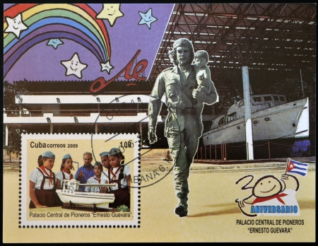 CUBA - CIRCA 2009: A stamp printed in Cuba dedicated to Central Palace of Pioneers