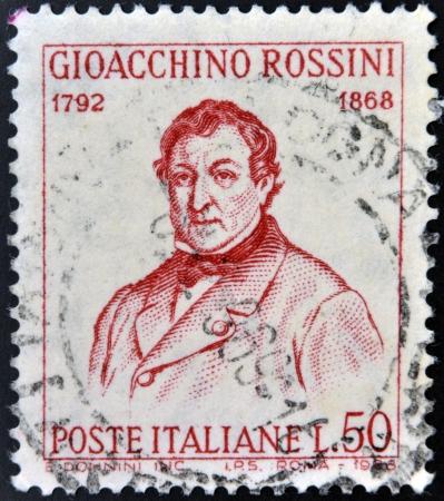 ITALY - CIRCA 1968: stamp printed in Italy shows Gioacchino Rossini, circa 1968