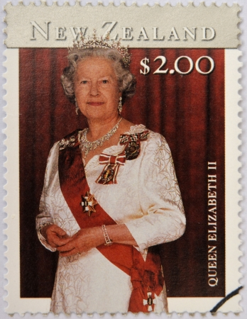constitutional: NEW ZEALAND - CIRCA 2001: stamp printed in New Zealand shows Queen Elizabeth II, circa 2001 Editorial