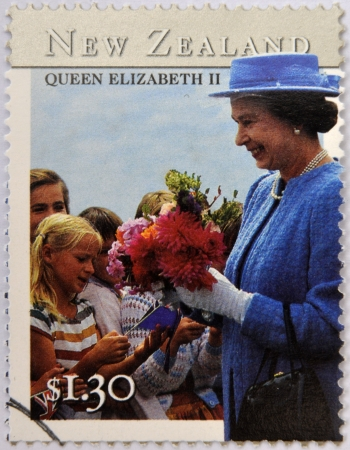 NEW ZEALAND - CIRCA 2001: stamp printed in New Zealand shows Queen Elizabeth II, circa 2001 Stock Photo - 18478863