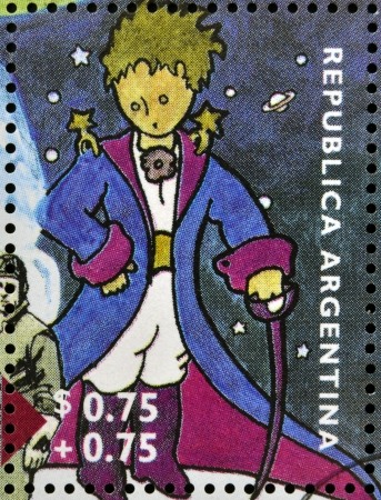 prince: ARGENTINA - CIRCA 1995  A stamp printed in Argentina shows The Little Prince, circa 1995