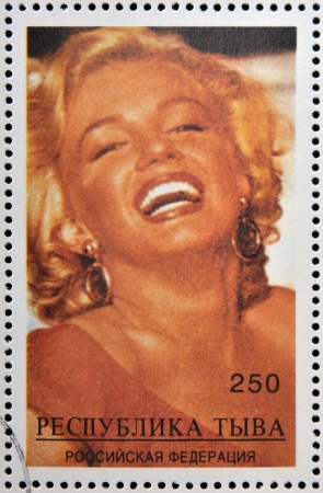 ABKHAZIA - CIRCA 2000  stamp printed in Abkhazia  Georgia  shows Marilyn Monroe, circa 2000