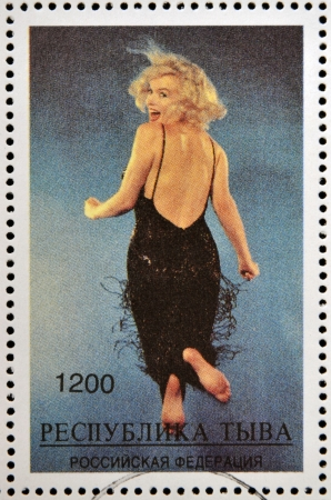 monroe: ABKHAZIA - CIRCA 2000  stamp printed in Abkhazia  Georgia  shows Marilyn Monroe, circa 2000
