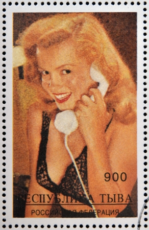 ABKHAZIA - CIRCA 2000  stamp printed in Abkhazia  Georgia  shows Marilyn Monroe, circa 2000 Stock Photo - 18749767