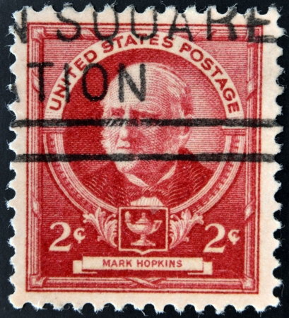 theologian: UNITED STATES OF AMERICA - CIRCA 1940  A stamp printed in USA shows Mark Hopkins - American educator and theologian, circa 1940