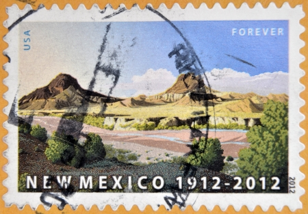 UNITED STATES OF AMERICA - CIRCA 2012: A stamp printed in USA dedicated to New Mexico, circa 2012 photo