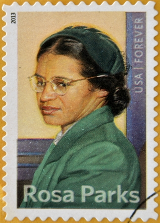 UNITED STATES OF AMERICA - CIRCA 2013: a stamp printed in USA showing Rosa Parks, circa 2013.  Editorial