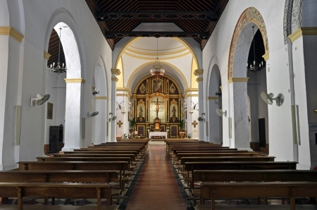 interior of the church of Frigiliana, Malaga, Spain photo