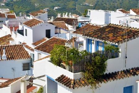 View of the typical rooftops Frigiliana photo