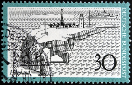 helgoland: GERMANY - CIRCA 1977: A stamp printed in Germany shows Helgoland, circa 1977