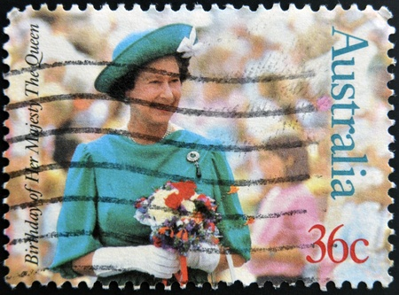 AUSTRALIA - CIRCA 1987  stamp printed in Australia shows Queen Elizabeth II, circa 1987