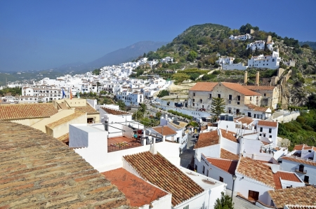 View of Frigiliana, Malaga, spain