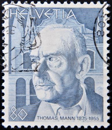 SCHWEIZ - CIRCA 1978: Stempel gedruckt in der Schweiz, zeigt Thomas Mann, circa 1978