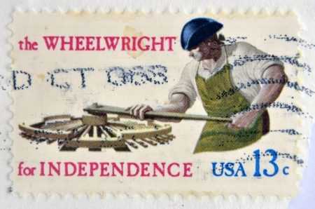 USA - CIRCA 1977 : A stamp printed in USA shows the Wheelwright for independence, circa 1977