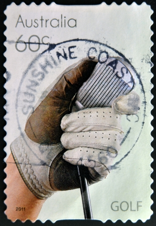 AUSTRALIA - CIRCA 2011: A stamp printed in Australia dedicated to Golf, circa 2011 photo