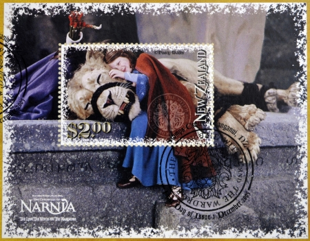 NEW ZEALAND - CIRCA 2005: Stamp printed in New Zealand shows The Chronicles of Narnia, The Lion, the Witch and the Wardrobe, circa 2005