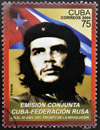 CUBA - CIRCA 2009: a stamp printed in Cuba showing an image of Ernesto Che Guevara, circa 2009.  Stock Photo - 20398572