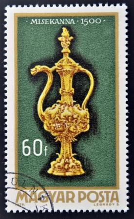 bureta: Hungría - alrededor de 1970: Un sello impreso en Hungría muestra Altar bureta 1500, alrededor de 1970