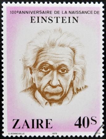 ZAIRE - CIRCA 1979  A stamp printed in Zaire shows Albert Einstein, circa 1979