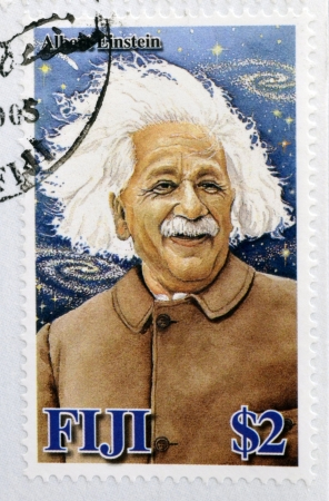 FIJI - CIRCA 2005  A stamp printed in Fiji Islands commemorating the centenary of Albert Einstein, circa 2005
