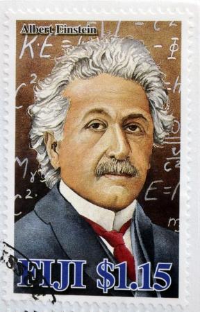FIJI - CIRCA 2005  A stamp printed in Fiji Islands commemorating the centenary of Albert Einstein, circa 2005