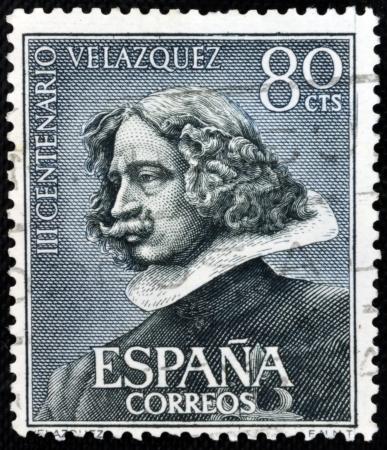velazquez: SPAIN - CIRCA 1972: stamp printed in Spain shows Self-portrait of Velazquez, circa 1972