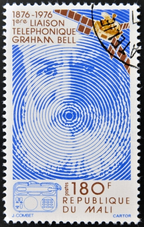 MALI - CIRCA 1976: A stamp printed in Mali shows Alexander Graham Bell, circa 1976