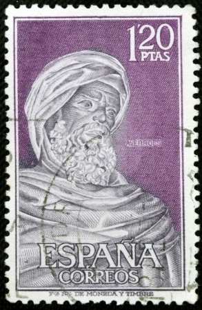 SPAIN - CIRCA 1967: A stamp printed in spain shows Averroes, circa 1967 Stock Photo - 20399707