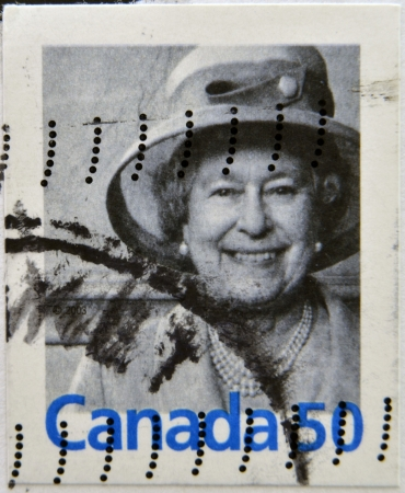 CANADA - CIRCA 2003  A stamp printed in Canada shows Queen Elizabeth II, circa 2003