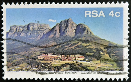 rsa: SOUTH AFRICA - CIRCA 1979: A stamp printed in RSA shows University of Cape Town, circa 1979 Editorial