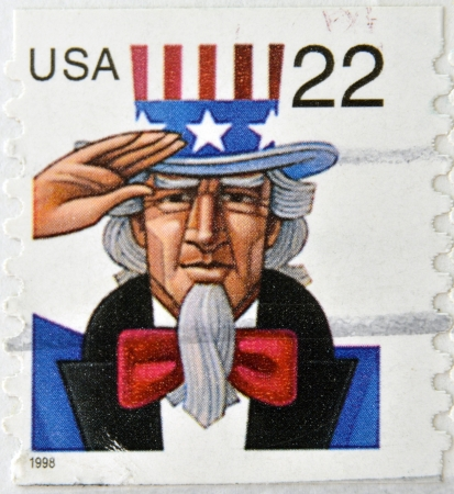 UNITED STATES OF AMERICA - CIRCA 1998: A stamp printed in USA shows Uncle Sam, circa 1998  Stock Photo - 20552868